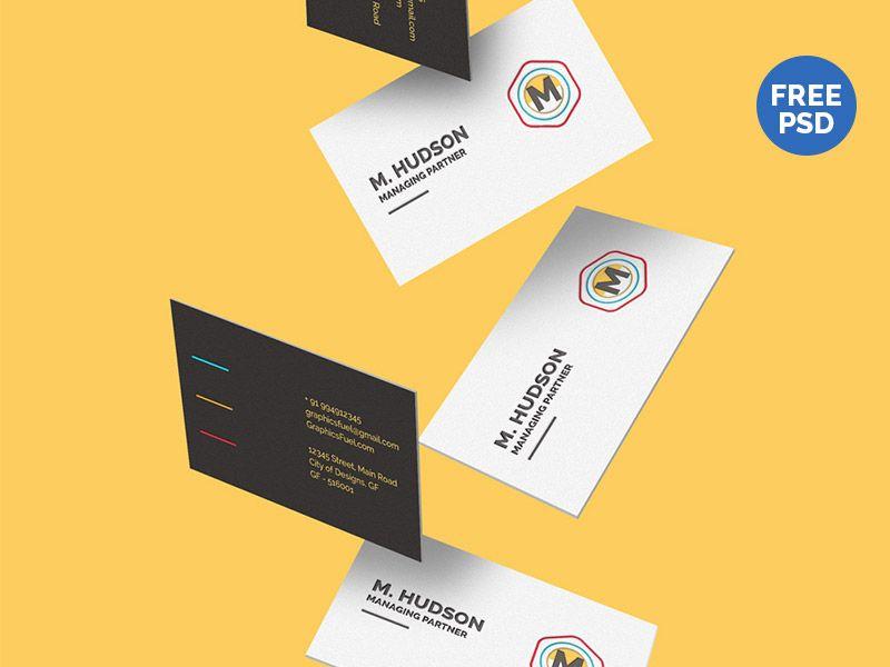 Free Falling Business Cards Mockup Website Mockup Business Card