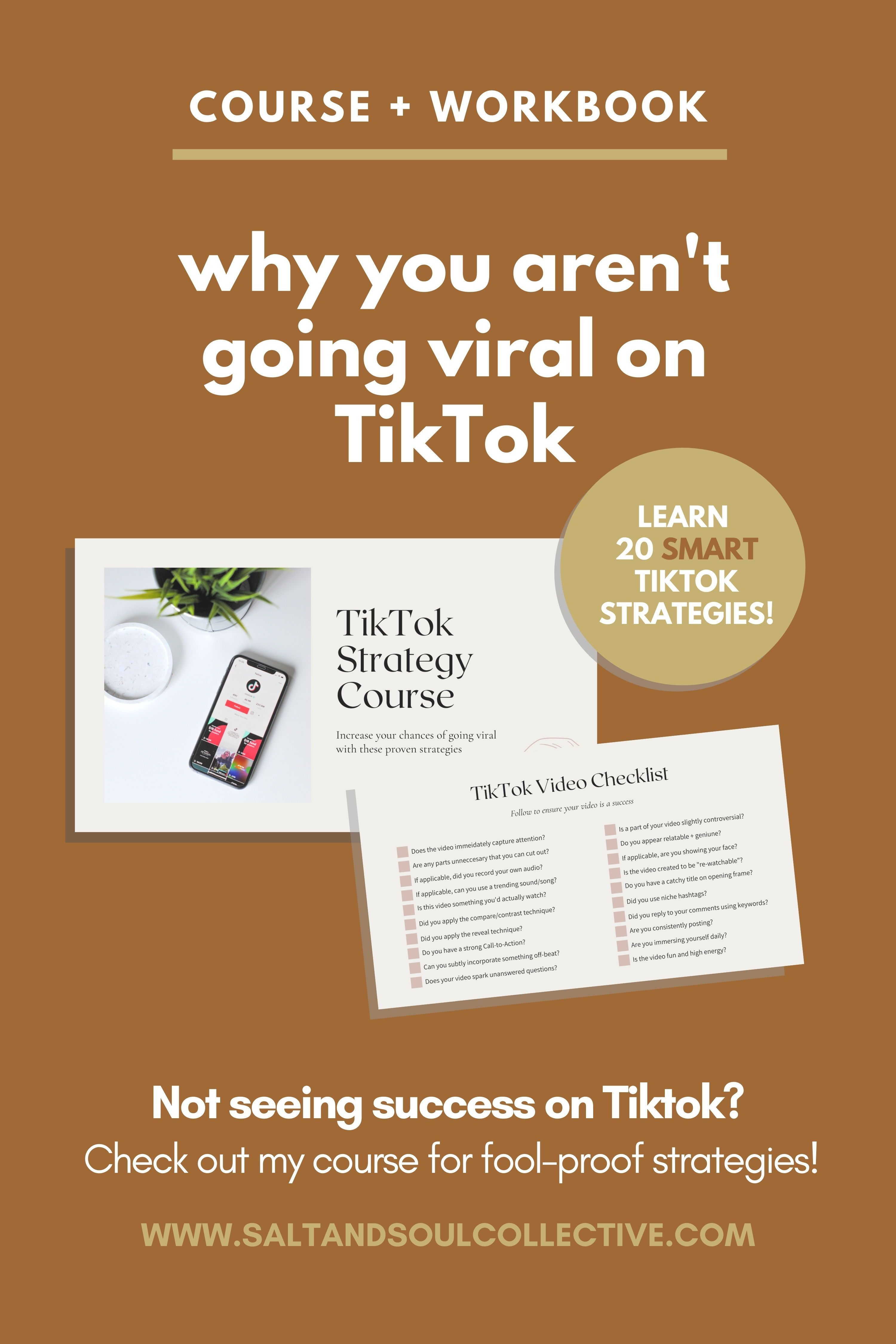 20 Tiktok Proven Strategies Course Salt Soul Collective Strategies How Are You Feeling Social Media Tips