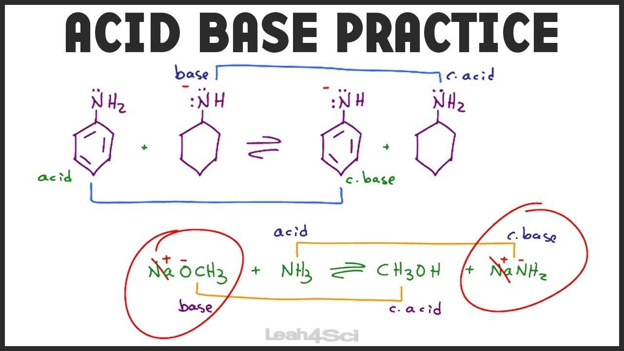 Photo of Acid Base Equilibrium Practice – Organic Chemistry