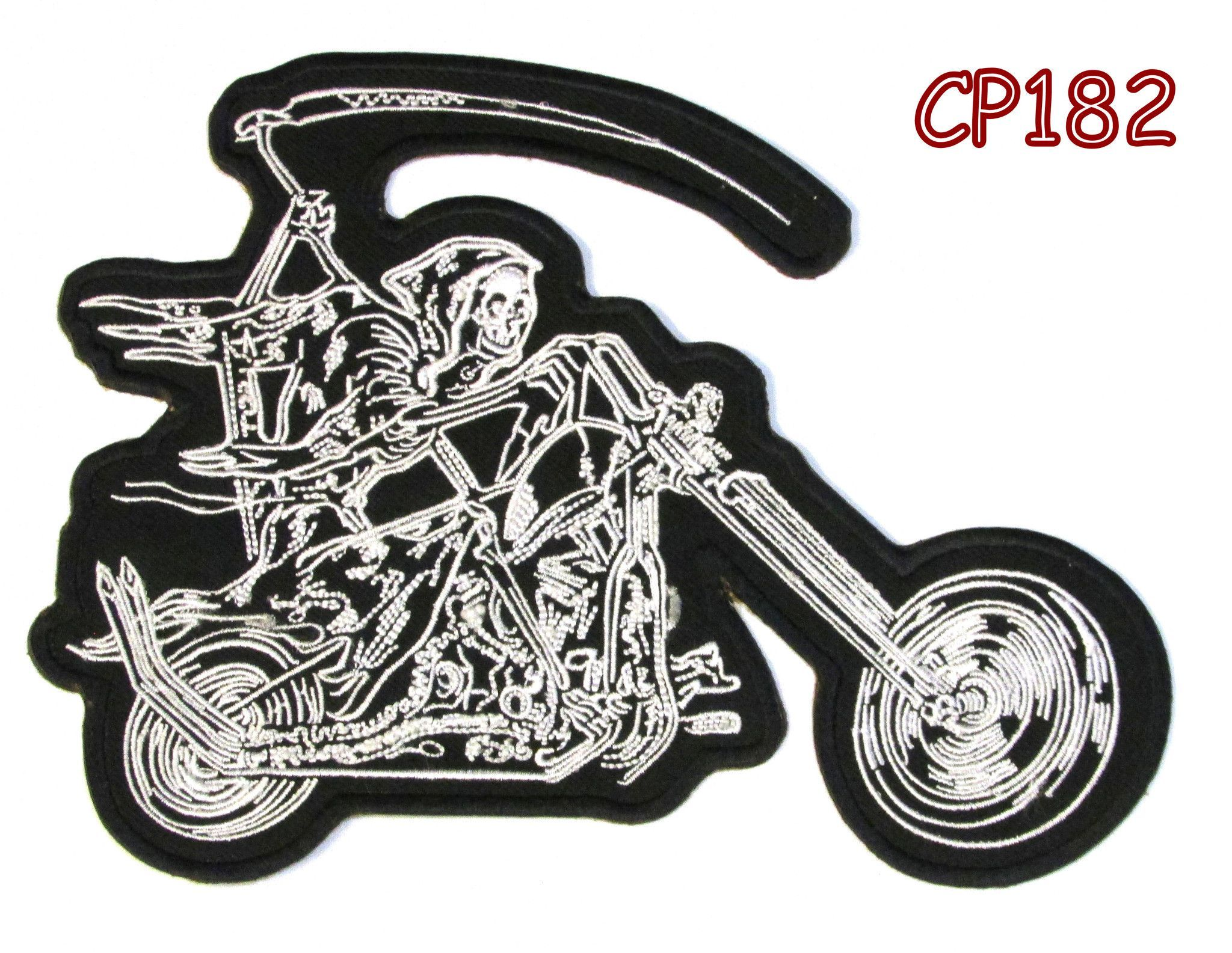 Grim Reaper up Your/'s High Detail Patch Sew//Iron Rider biker Motorcycle