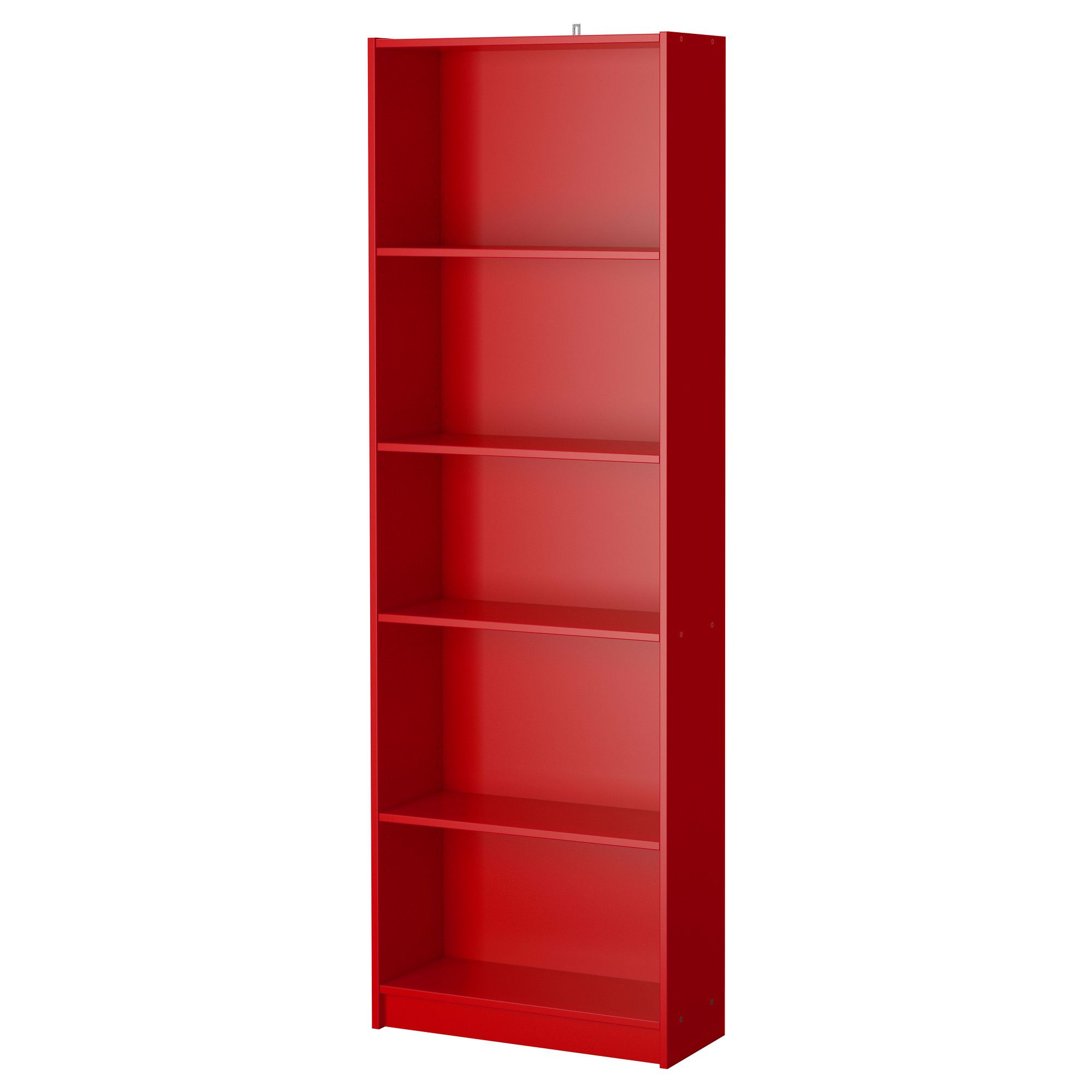 ikea finnby biblioth que rouge quatre tablettes hauteur r glable adapter selon vos. Black Bedroom Furniture Sets. Home Design Ideas
