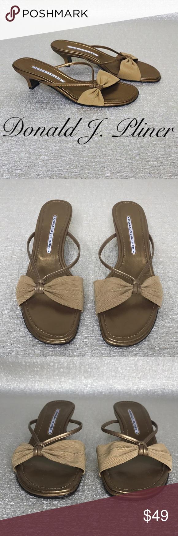 Donald J Pliner Gold Heeled Sandals Sandals Heels Gold Kitten Heels Gold Heels