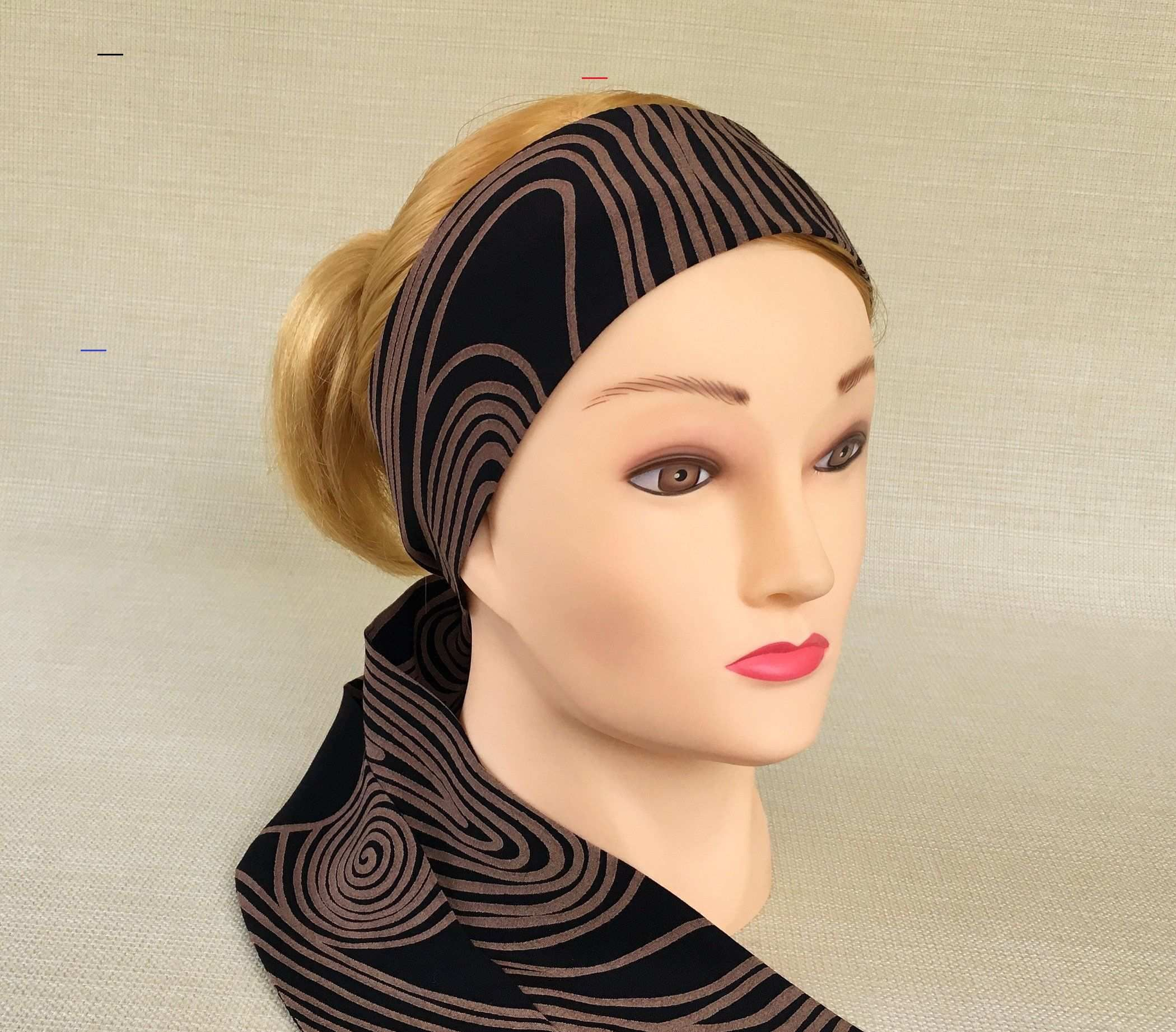 KYLIE HEADWRAP HEADBAND ELASTICATED HEAD WRAP STRETCHY BANDANA CAP 3 IN 1 NEW