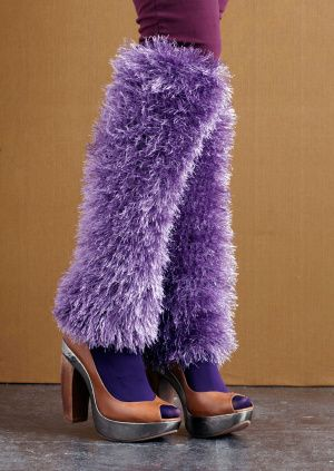 YIKES-kind of crazy-purple leg warmers!
