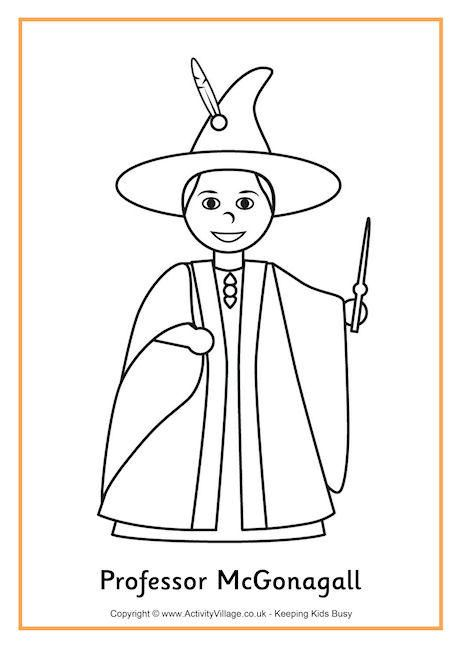 Professor Mcgonagall Colouring Page 2 Harry Potter Coloring Pages Coloring Pages Harry Potter Images