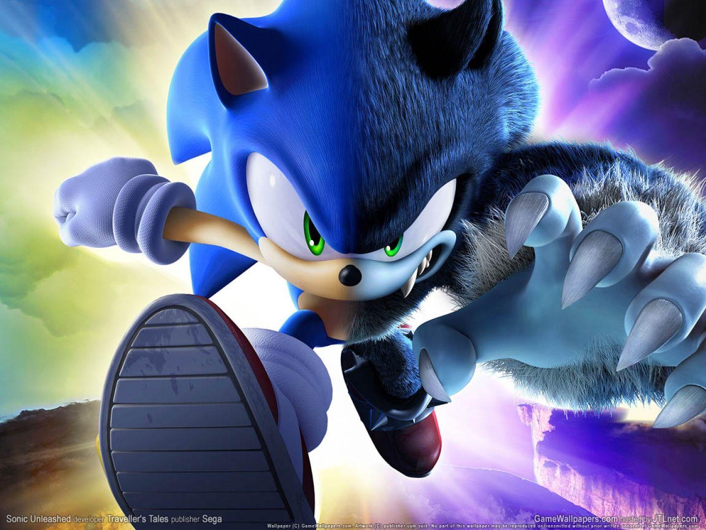 半分ソニック ゲーム 高解像度で壁紙 Sonic unleashed, Sonic the hedgehog