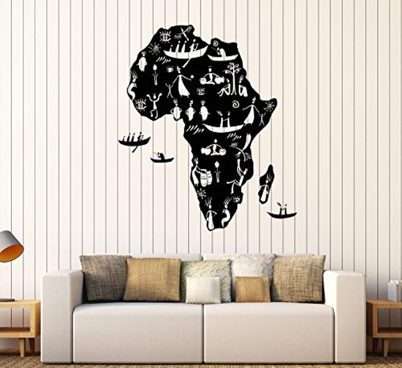 FirstDecals Vinyl Wall Decal Africa Continent African ...