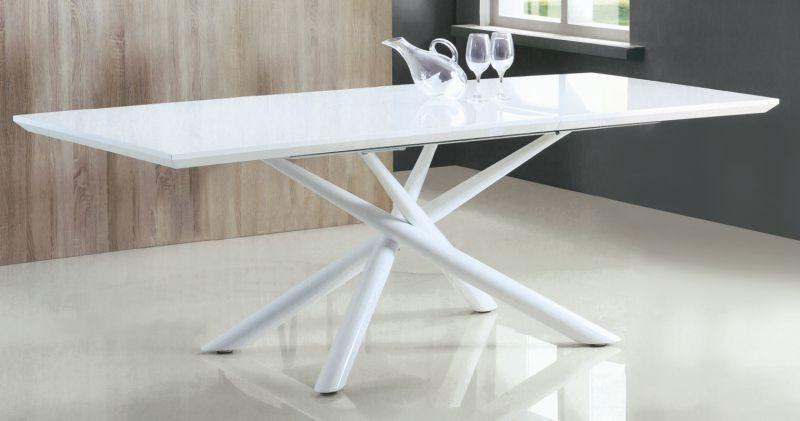 Tavolo Flat ~ Tavolo moderno design allungabile laccato bianco art 1443 tavoli