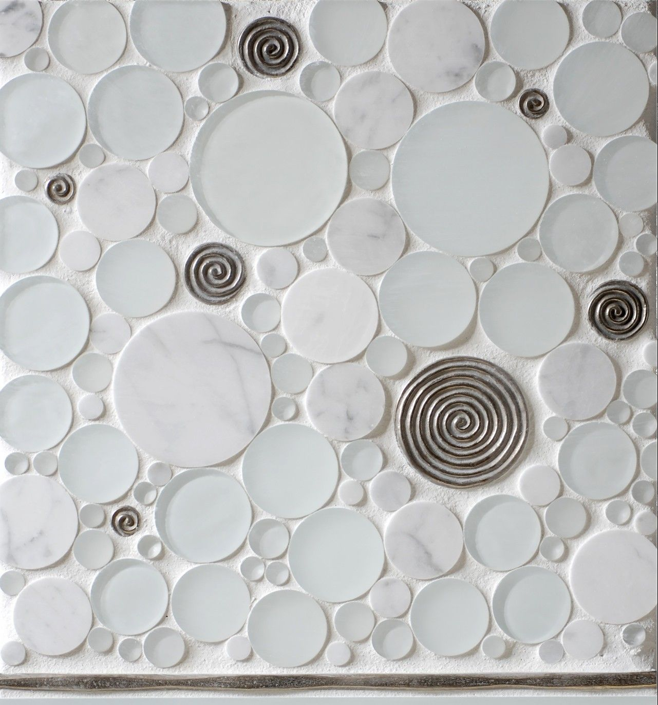 Metal accent tiles and liners for bathroom, kitchen, wall, floor ...