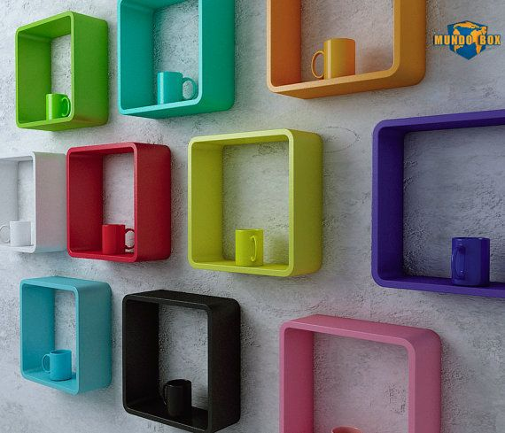 Round Corner Cube Shelfs Or Color Wall Square Curved Shelves Display