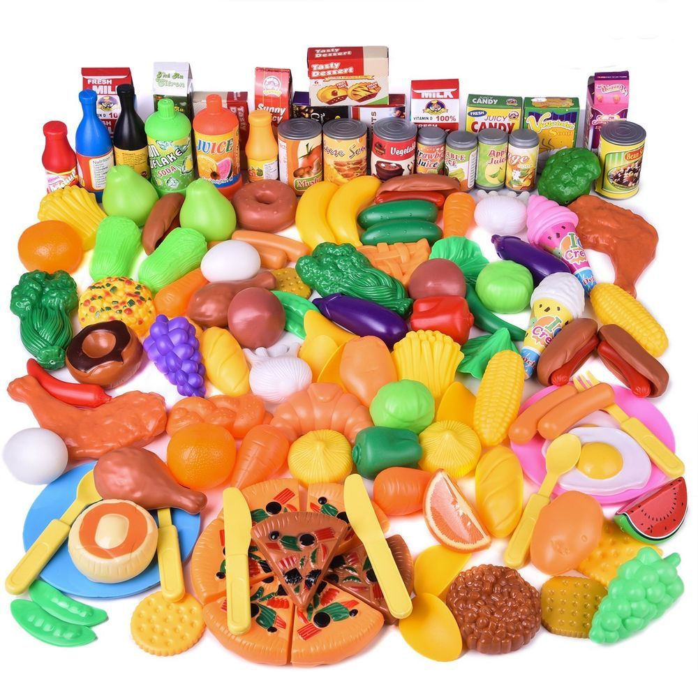 Fun little toys 128 pcs play food for kids toy food