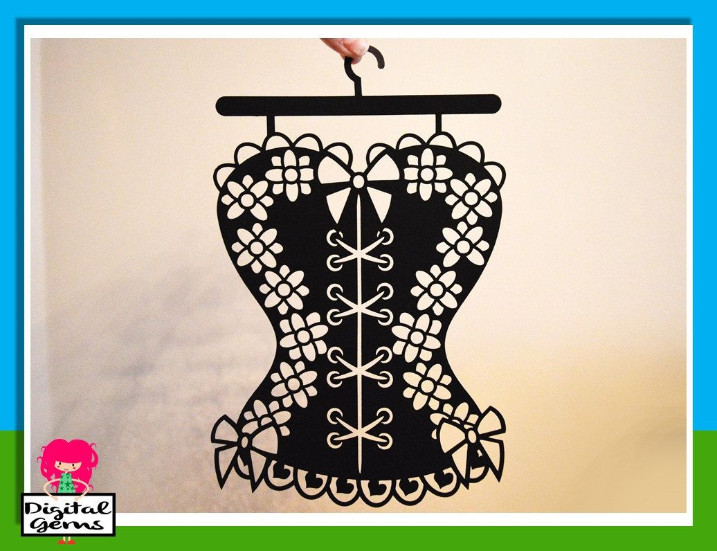 Corset, Burlesque paper cut svg / dxf / eps / files, and pdf / png ...
