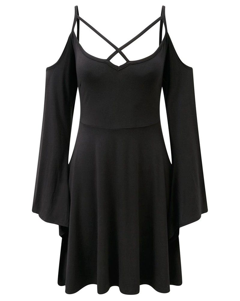Killstar seance angel sleeve skater dress tragic beautiful buy