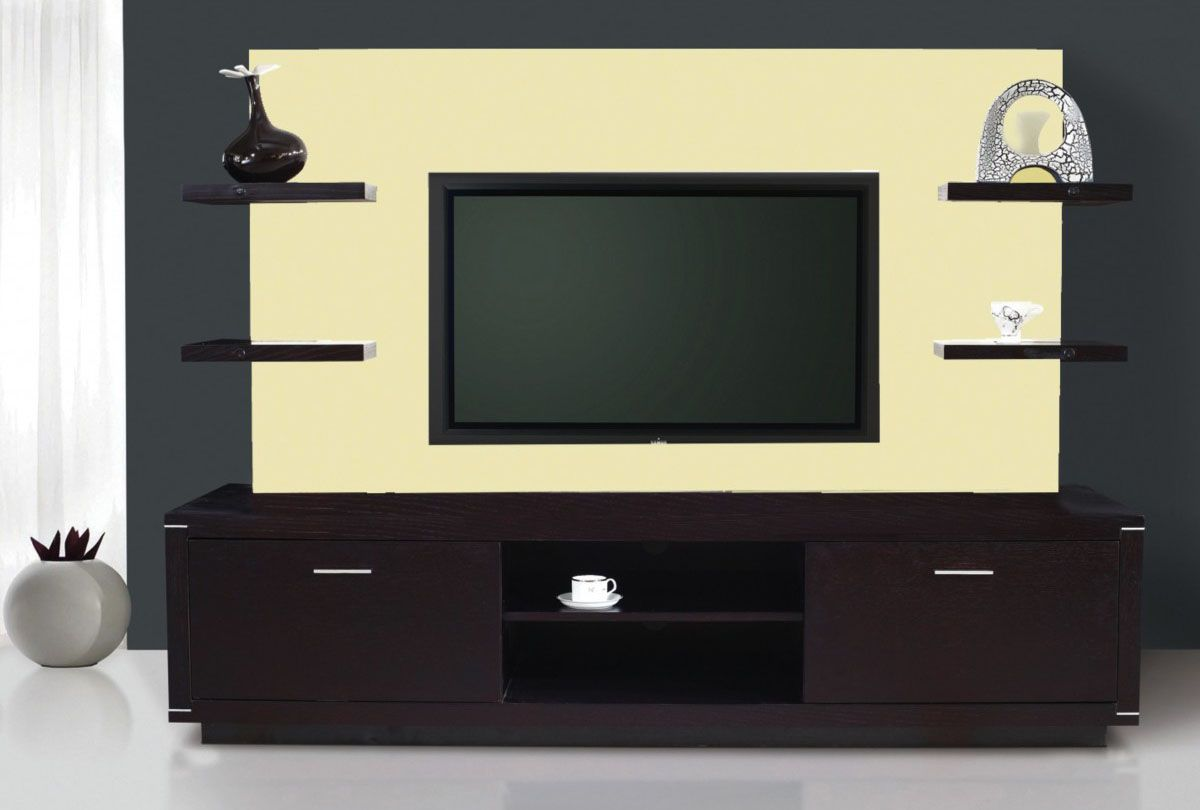 flat screen hanging ideas | ... Beige TV Stand Wall Unit And Cabinet ...