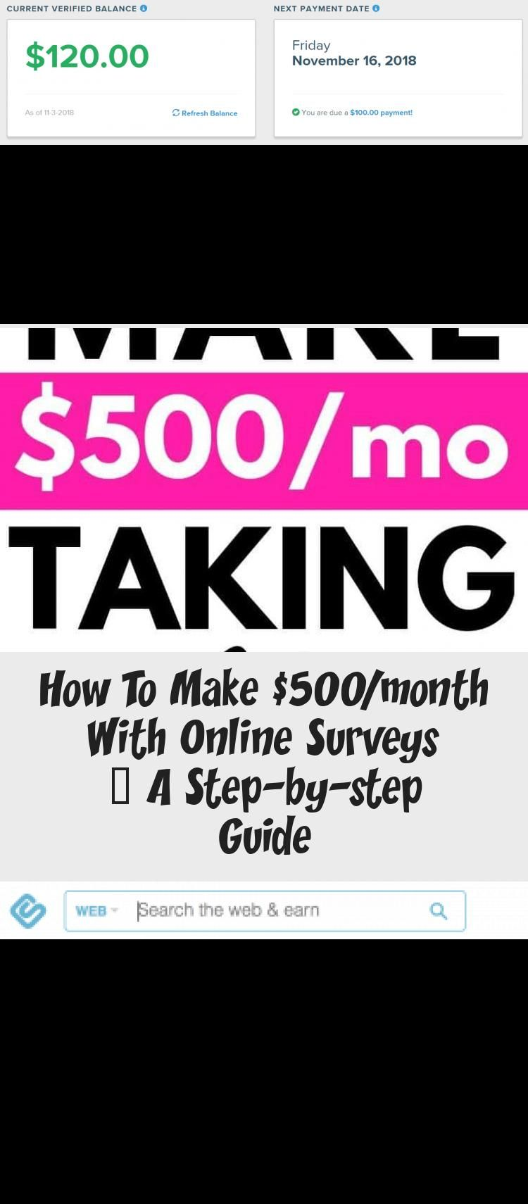 How To Make 500 Month With Online Surveys A Step By Step Guide How To Make Money Making Money Teens Best Survey Sites