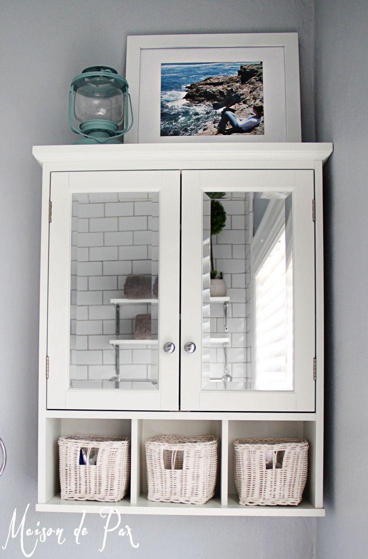 15 Classy Bathroom Hacks: 2. Hanging cabinet | Pinterest | Bathroom ...