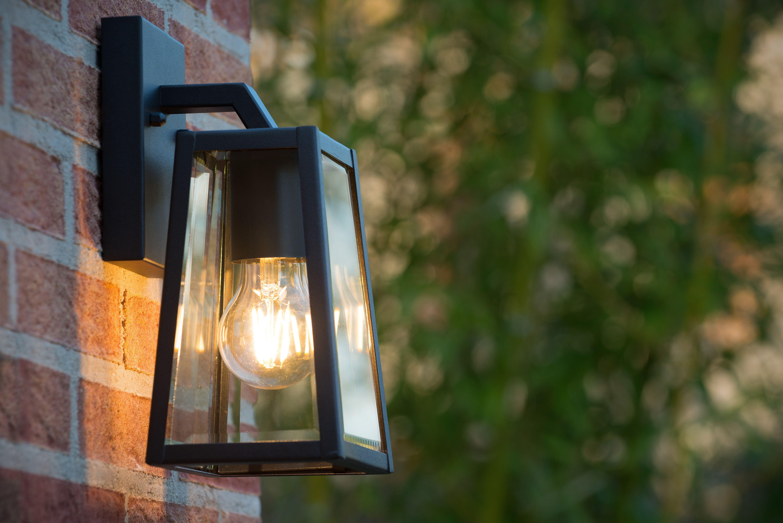 Lucide Matslot Wall Light Outdoor E27 Ip23 Black Wall Lights Outdoor Wall Lighting Outdoor Wall Lantern