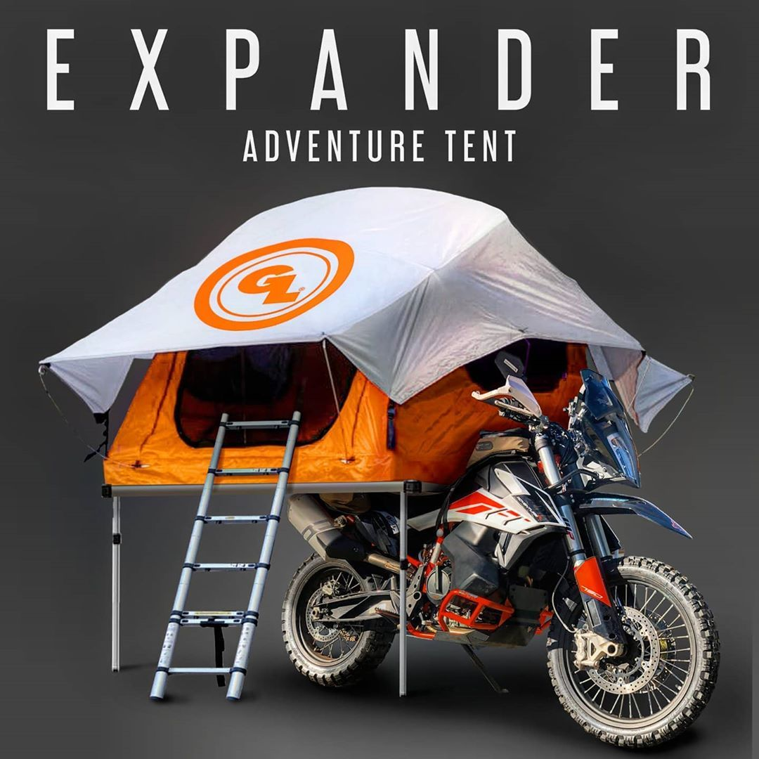 Giant Loop On Instagram Introducing The World S First Seat Top Tent For Motorcycles The Expander Adventure Tent Get Yours Now Top Tents Tent First World