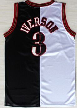 Hight Quality Free Shipping Retro  3 Allen Iverson Basketball Jersey  Throwback Jerseys Embroidery Logo Mesh Black White Blue-025 ad3ccb2a5