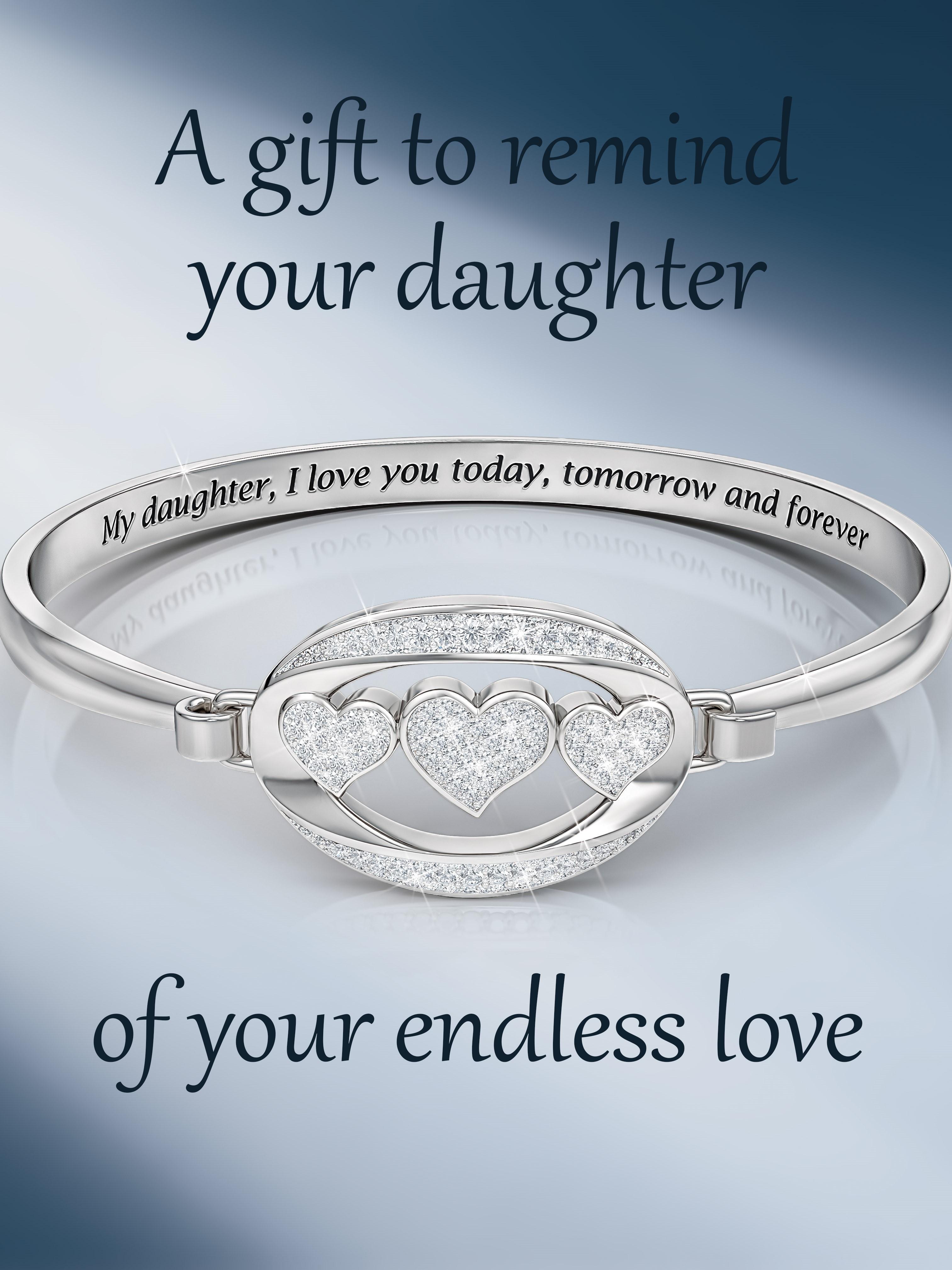 My Daughter I Love You Diamond Bangle Jewelry Diamond Bangle