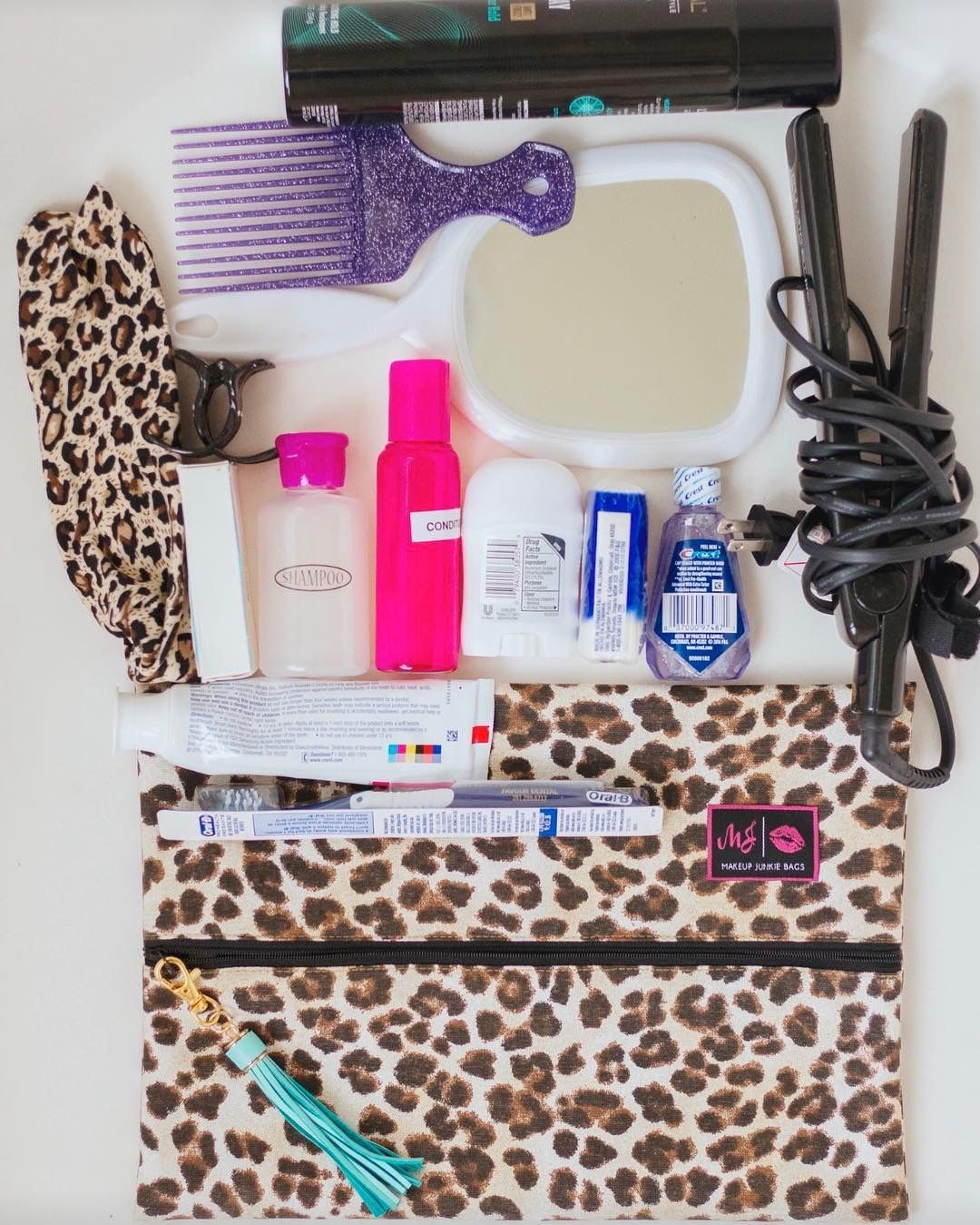 What all can you fit in a Makeup Junkie Bag? Basically