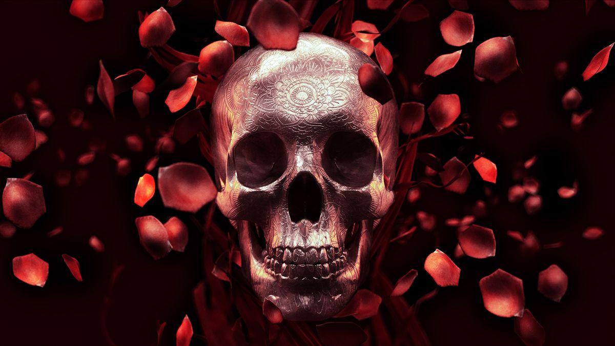 Rose Petal Skull- Free Wallpaper on Behance