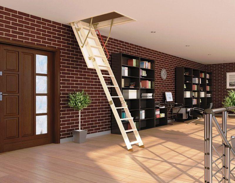 escalera plegable madera fakro lwk
