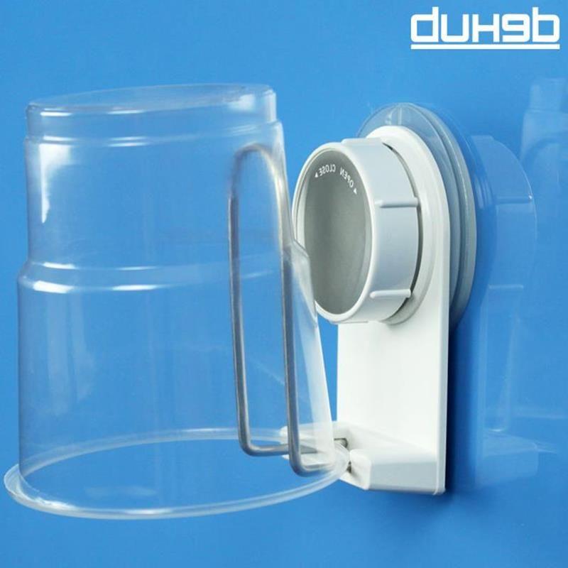 Dehub Suction Cup Plastic Cup Holder Creative Mug Holder Bathroom Cup Holder Stainless Steel Bathroom Set With Creative Design