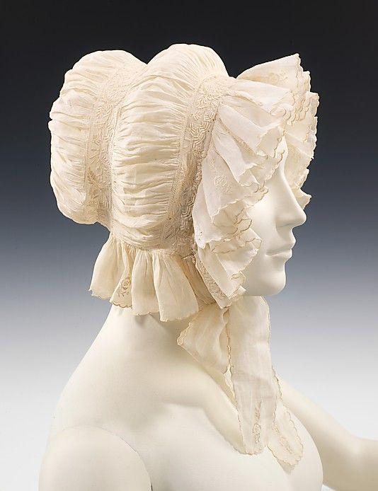 Morning cap | United States, circa 1830 | Material: linen | The Metropolitan Museum of Art, New York