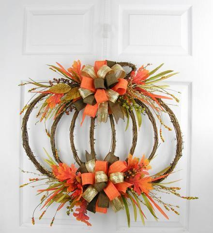 Berried Scarecrow Double Bow Wreath |  | Pinterest ...
