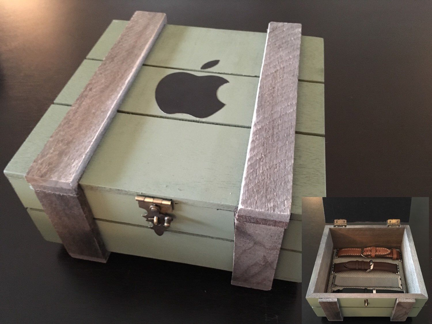 Apple Watch Band Storage Crate Style By Applevalleywatchbox On Etsy Https Www Etsy Com Listing 266869055 Apple Watch Ba Crate Storage Crates Diy Watch Band