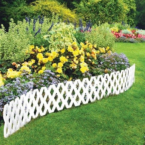 Fences And Walls In A Garden Are Just Like The Walls In Your House Providing An Opportunity To Disp Plastic Garden Edging Garden Edging Front Yard Landscaping