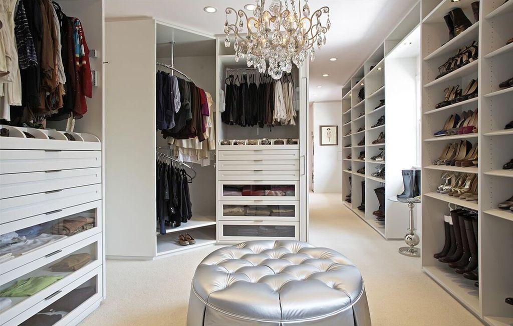 Contemporary Closet With Chandelier High Ceiling Carpet Rev A Shelf Spiral Clothes Rack For Closet Walk In Closet Design Closet Design Closet Designs