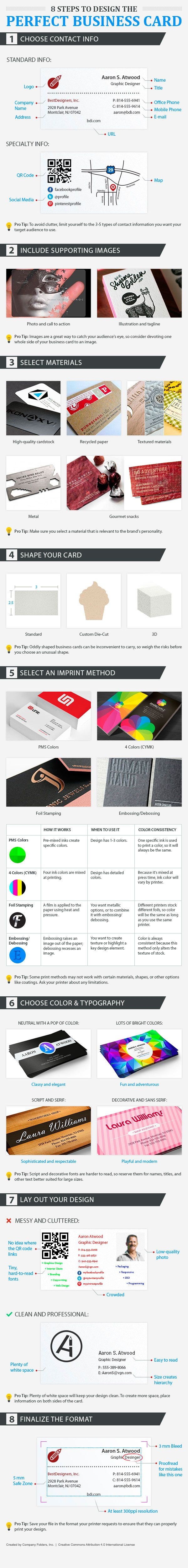 Infographic Tips To Design The Perfect Business Card Business