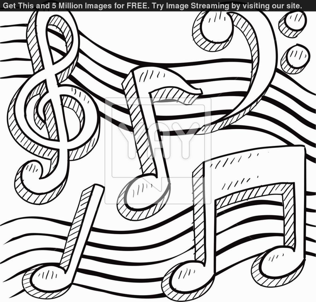 music notes coloring sheets