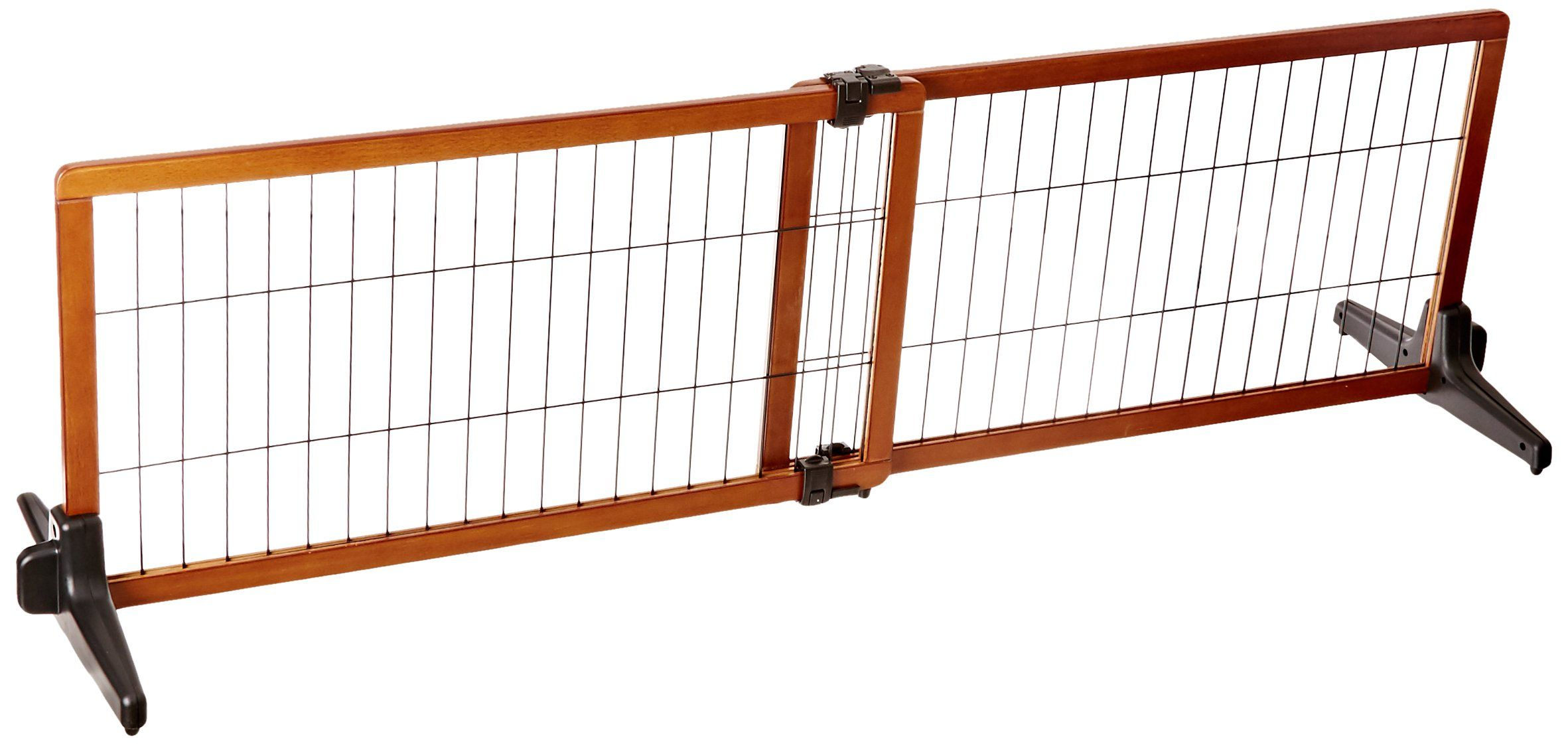 5c1813c53ee Carlson 68Inch Wide Adjustable Freestanding Pet Gate Premium Wood     Read  more reviews of the product by visiting the link on the image.
