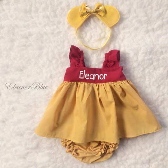 017078397f4d Sweet Winnie the Pooh set includes personalized dress