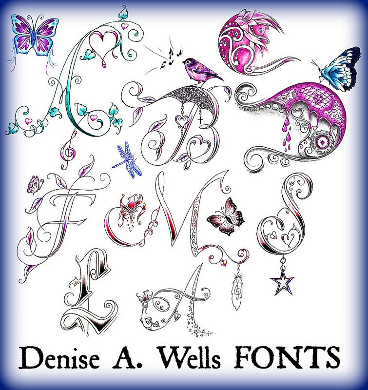 Letter Alphabet Fonts By Denise A. Wells