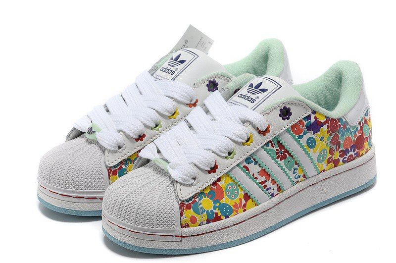 Adidas Superstar 2 Womens 028189 Floral Multicolor Print