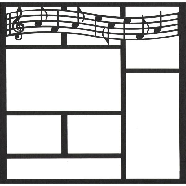 Music Staff 12 X 12 Overlay Laser Die Cut Liked On