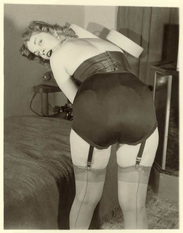 Vintage stockings porn
