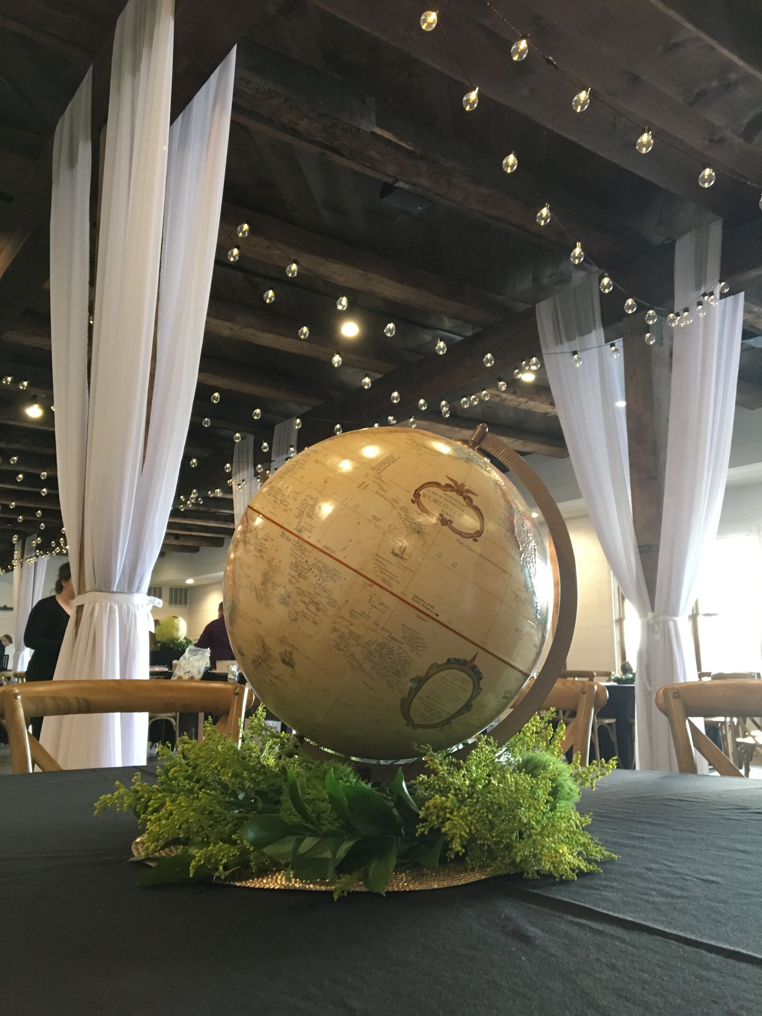Globe centerpiece Holiday party centerpieces, Affordable