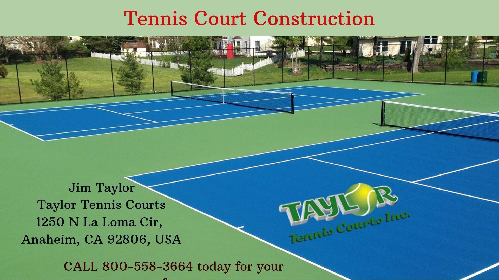 Tennis Court Construction Tennis Court Tennis La Loma