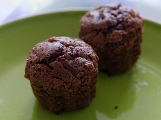 Made with chocolate fudge cake mix, chocolate pudding mix, water, eggs, vegetable oil, mini chocolate chips, almond extract | CDKitchen.com