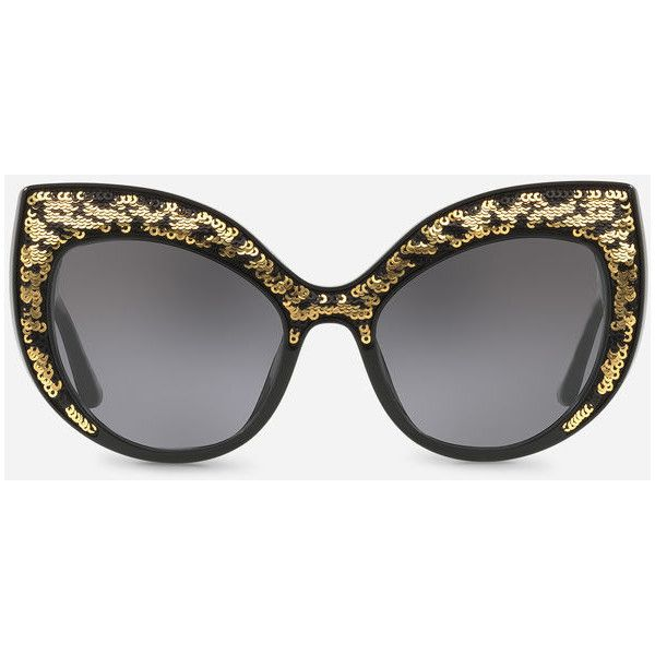 245198c0404 Dolce   Gabbana Cat Eye Sunglasses With Sequined Detailing ( 930) ❤ liked  on Polyvore featuring accessories