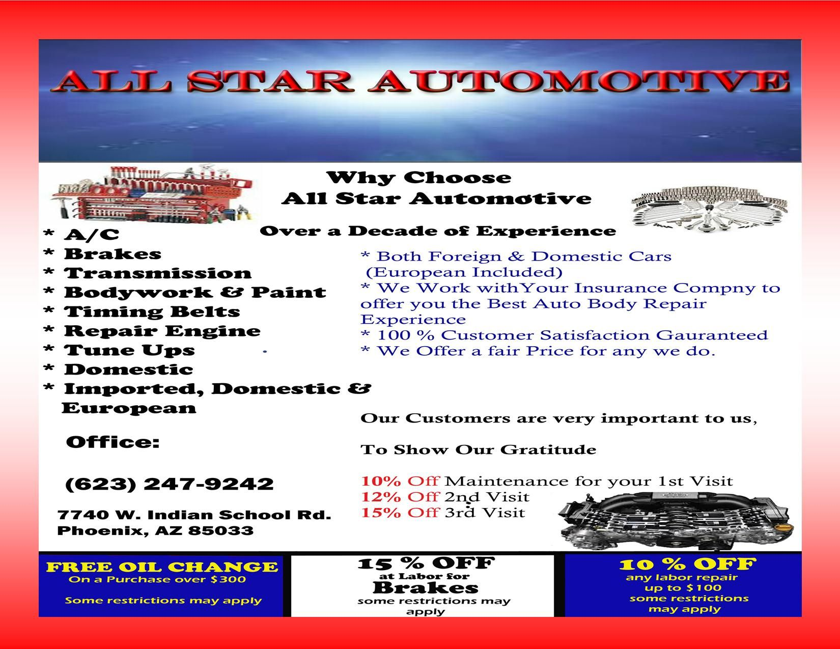 ALL STAR AUTOMOTIVE   #AZSEASONSMAGAZINE