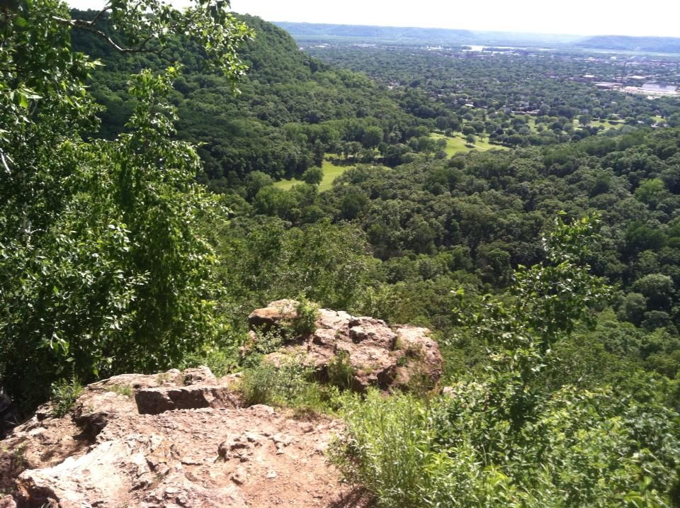 View from on top of a bluff