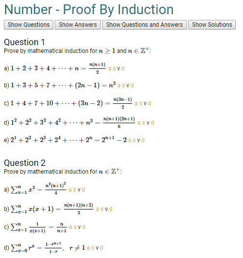 Have Spent A Long Time On A Proof By Induction Topic With 29 Fully Worked Solutions Http Adaprojec Mathematical Induction Discrete Mathematics Number Theory