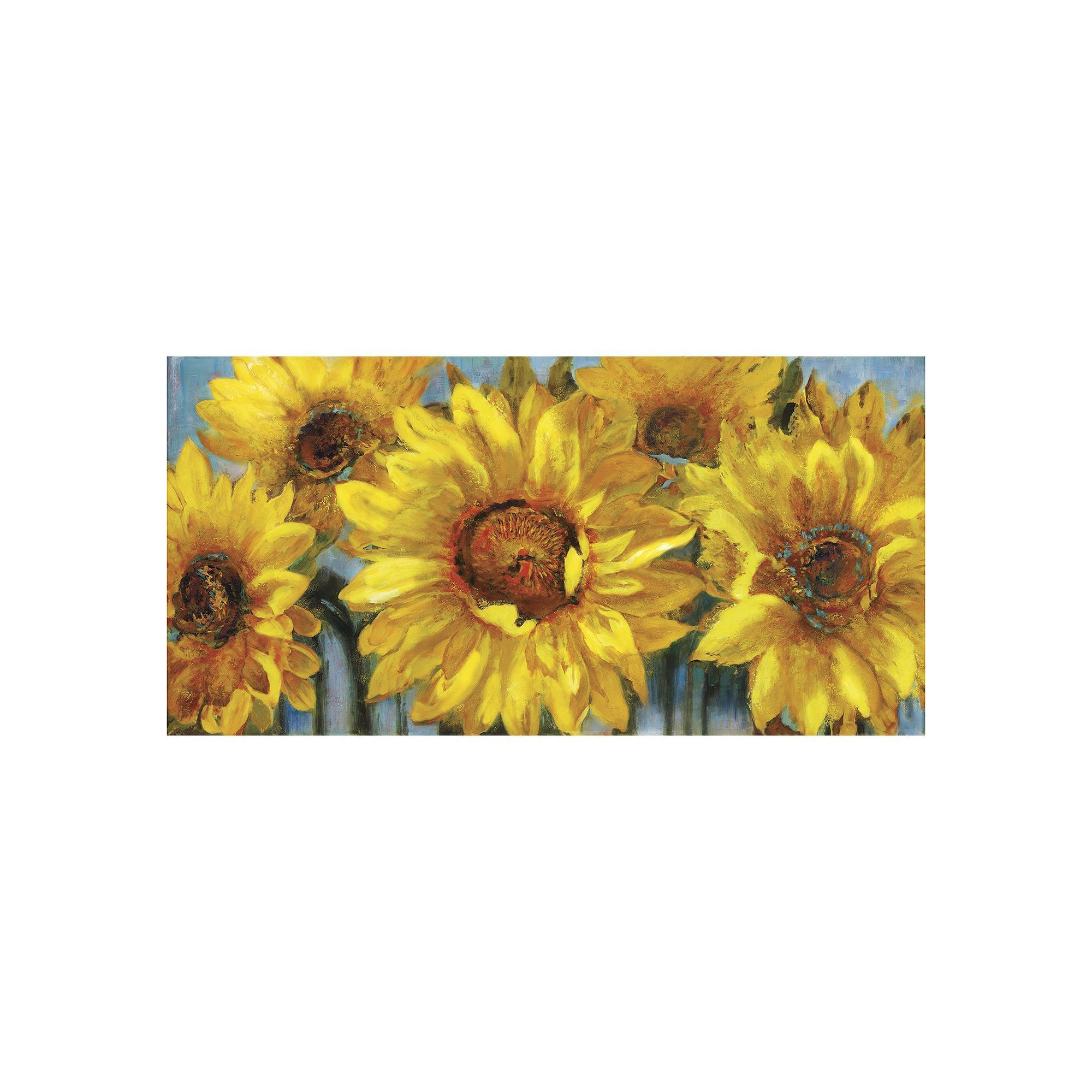Sunburst I\'\' Sunflower Farmhouse Canvas Wall Art | Canvases and Products