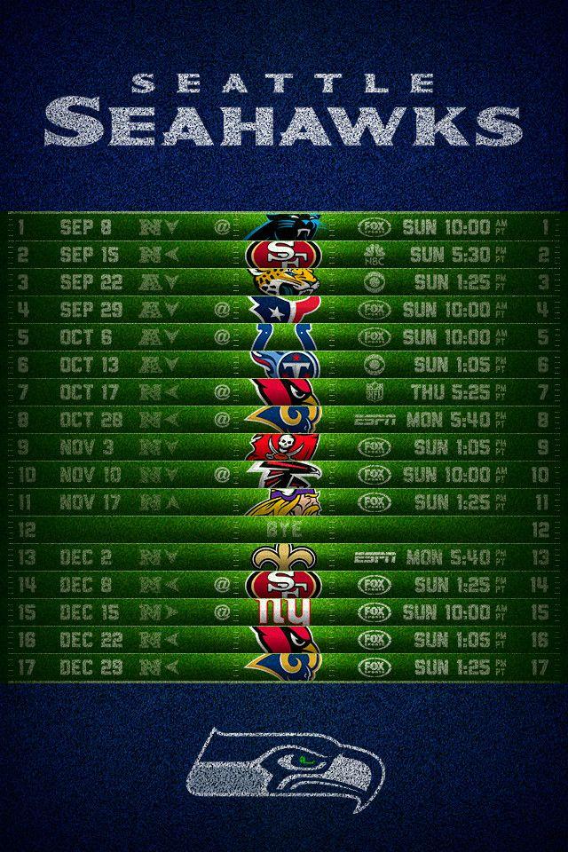 Seattle Seahawks 2013 Football Schedule iPhone 4